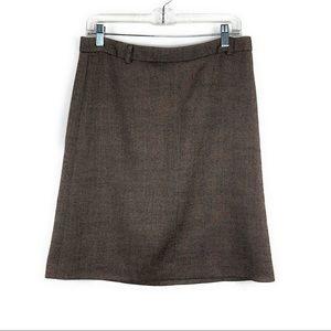 Theory Tweed Aline Brown Skirt